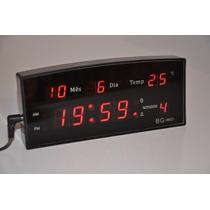 Relógio De Mesa Led Digital Termômetro Despertador Dia Mês