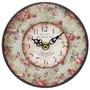 Relógio Mdf Flores Romantic Oldway