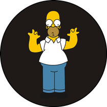 Quadros Personalizados Em Disco De Vinil, The Simpsons
