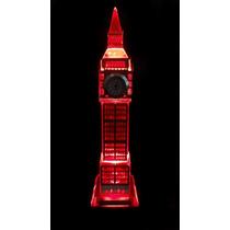 Relogio Londres Big Ben Mesa Decorativo Sala Escritorio Vidr