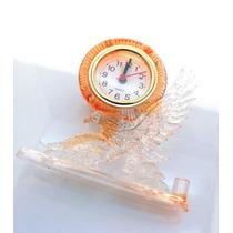 Leilão Relógio De Mesa Acrílico Forma De Águia Laranja A1615