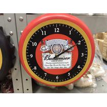 Relógio De Parede De Tampa De Garrafa Cerveja Budweiser