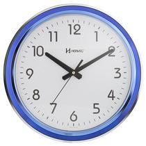 6194 - Relógio De Parede Gigante Cromado Vermelho Azul