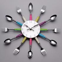 Relógio De Parede Talher Colorido Copa Cozinha Sala Jantar