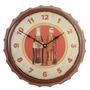 Relógio Parede Mdf Tampa Garrafa Coca Cola 34cm Vetro #606