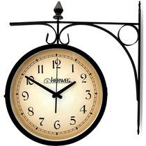 Relógio De Parede Dupla Face Herweg 6358