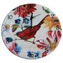 Relógio De Parede Pássaro E Flores Coloridas