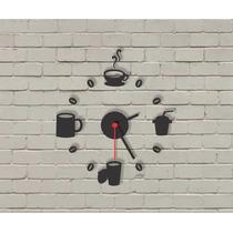 Relógio Decorativo Em Acrílico - Café - Decoração Criativa