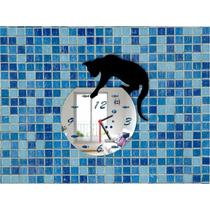 Relógio Decorativo Em Acrílico - Gato - Decoração Criativa