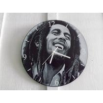 Relógio De Parede Em Vinil, Bob Marley, Reguee