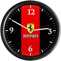 Relógio De Parede Ferrari, Em Plástico, Decorativo