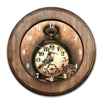 Relógio Horas Retrô Com Moldura De Madeira