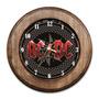 Relógio Ac/dc Com Moldura De Madeira