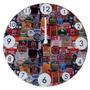 Relógio De Parede Rótulos De Cerveja Mdf Impressão Digital