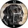 Relógio De Parede Em Vinil, Labrador, Cachorro