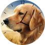 Relógio De Parede Em Vinil, Cachorro, Labrador