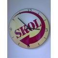Relógio De Parede Em Vinil Cerveja Skol Personalizados
