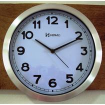 6406s Relógio Parede S/ Tic-tac Sweep 30 Cm Aluminio Herweg