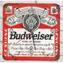 Relógio De Parede Em Madeira Mdf Cerveja Budweiser