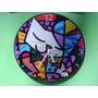 Relógio De Parede Em Vinil Romero Britto Personalizado