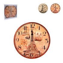 Relógio De Parede Redondo Paris Frete Grátis