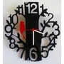 Relógio Parede Acrílico Decoração Criativa Árvore E Pássaro