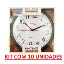 10 Unidades Relógio De Parede Nativo 1 Ano De Garantia