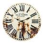 Relógio De Parede Romano Com Ferrugem Em Metal