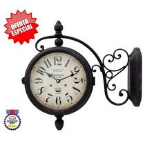 Relógio De Parede Vintage Estação Dupla Face Herweg 6425