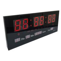 Led Clock Original Relógio Digital De Parede Painel 36x15cm