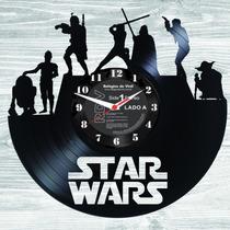 Relógios De Disco De Vinil- Star Wars