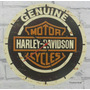 Relógio De Parede Em Madeira Mdf Harley Davidson Motor Cycle