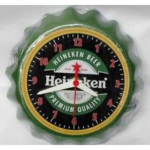 Relógio De Parede De Tampa De Garrafa Cerveja Heineken