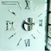 Relógio De Parede Monte Você Mesmo Espelho Cozinha Sala