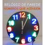 Relógio De Parede Números C Luzes Visível Noite Pilha Grátis