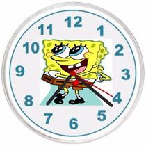 Relógio De Parede Decorativo Bob Esponja Ótima Qualidade