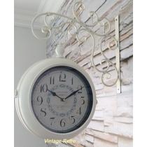 Relógio De Estação Vintage Retrô Paris - Diâmetro 23 Cm
