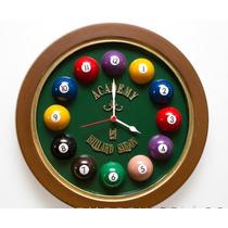 Relógio Decorativo Horário Billiard Grande