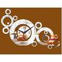Relógio Acrilico De Parede Decorativo E Estiloso Fret Grátis