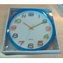 Relógio De Parede Convencional Colorido Barateza Exclusivo