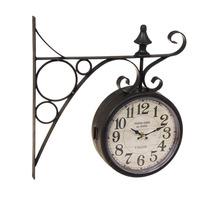 Relógio De Parede Estação Paris Preto Em Ferro