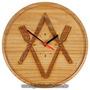 Relógio Maçonaria De Parede Em Madeira - Jantar Ritualístico