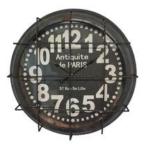Relógio Grande De Parede Industrial Antiquite De Paris