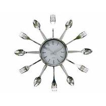 Relógio De Cozinha- Parede Com Talheres - Maravilhoso -