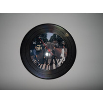 Relógio De Disco De Vinil The Beatles