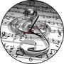 Relógio De Parede Em Vinil, Clave, Nota Musical
