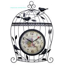 Relógio De Parede Gaiola Vintage Retro Decoração Casa Jardim