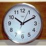 Relógio De Parede Steel 30 Cm Aço Escovado Novo Kienzle