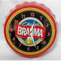 Relógio De Parede Tampa De Garrafa Cerveja Brahma P. 23cm