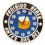 Relógio Proibido Beber Antes 10hrs Ótima Qualidade C/ Brinde